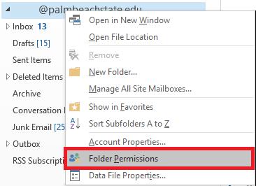 Select Folder Permissions