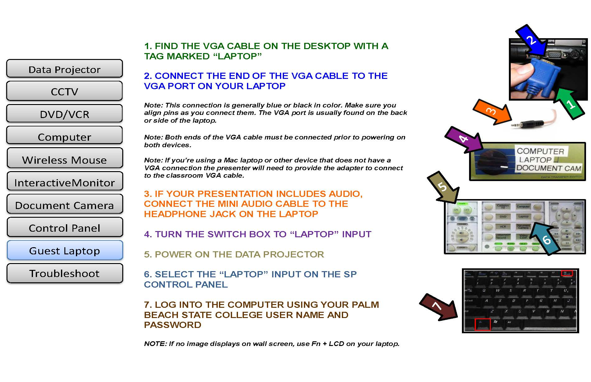 how to use guest laptop