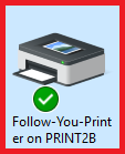 Example of the green check showing on a printer.