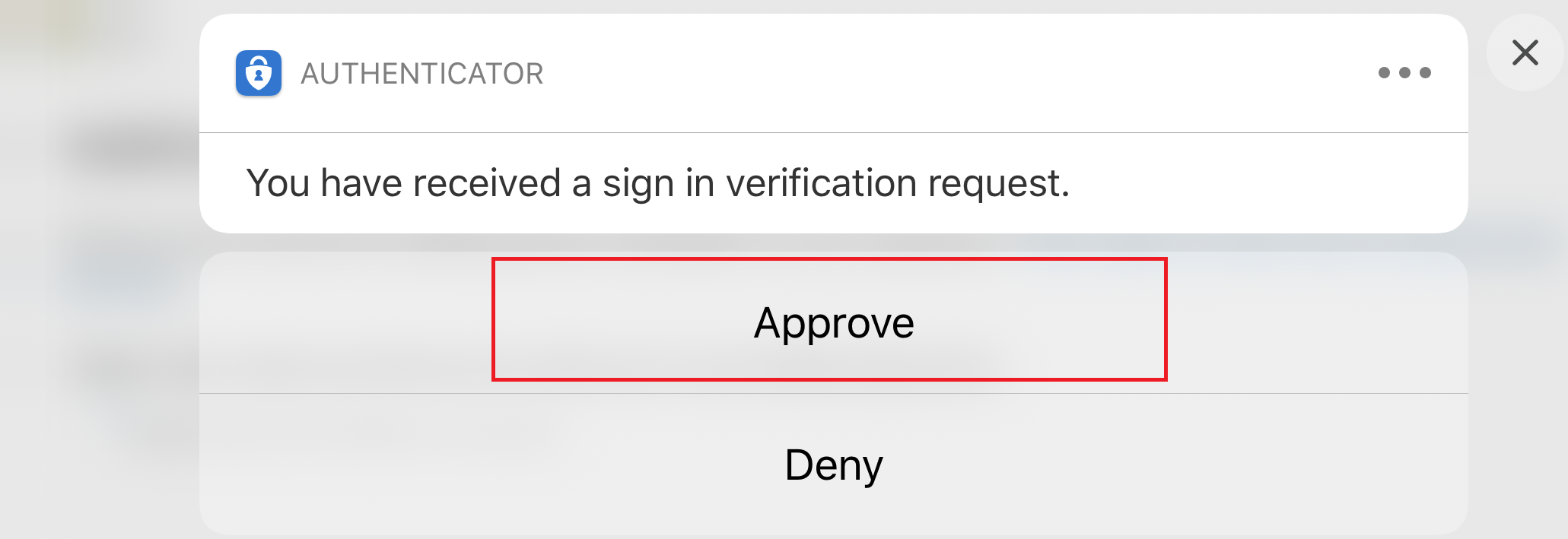 Approve the notification for Microsoft Authenticator
