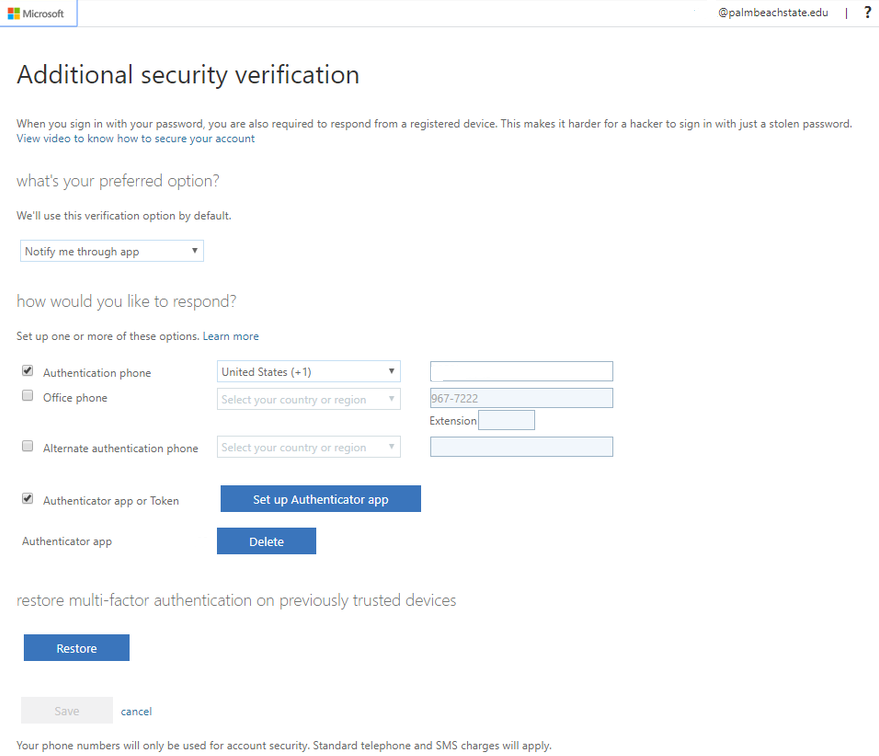 "Additional security verification.  ""what's your preferred option?"" ""how would you like to respond?"""