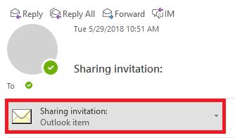 Open the sharing invitation attachment