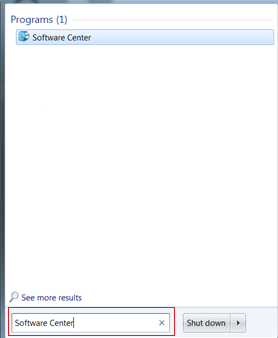 "Search for ""Software Center"" in the windows search."