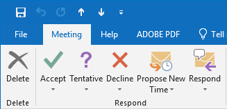 Meeting response options