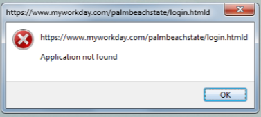 https://www.myworkday.com/palmbeachstate/login.htmld Application not found