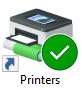 Printer icon on the college desktop