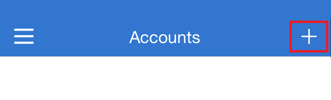 Within the Microsoft Authenticator app, with the Plus button highlighted in the top right corner