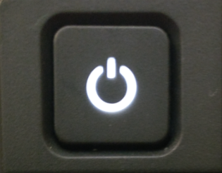 image of power button on the dell computer systems on campus.