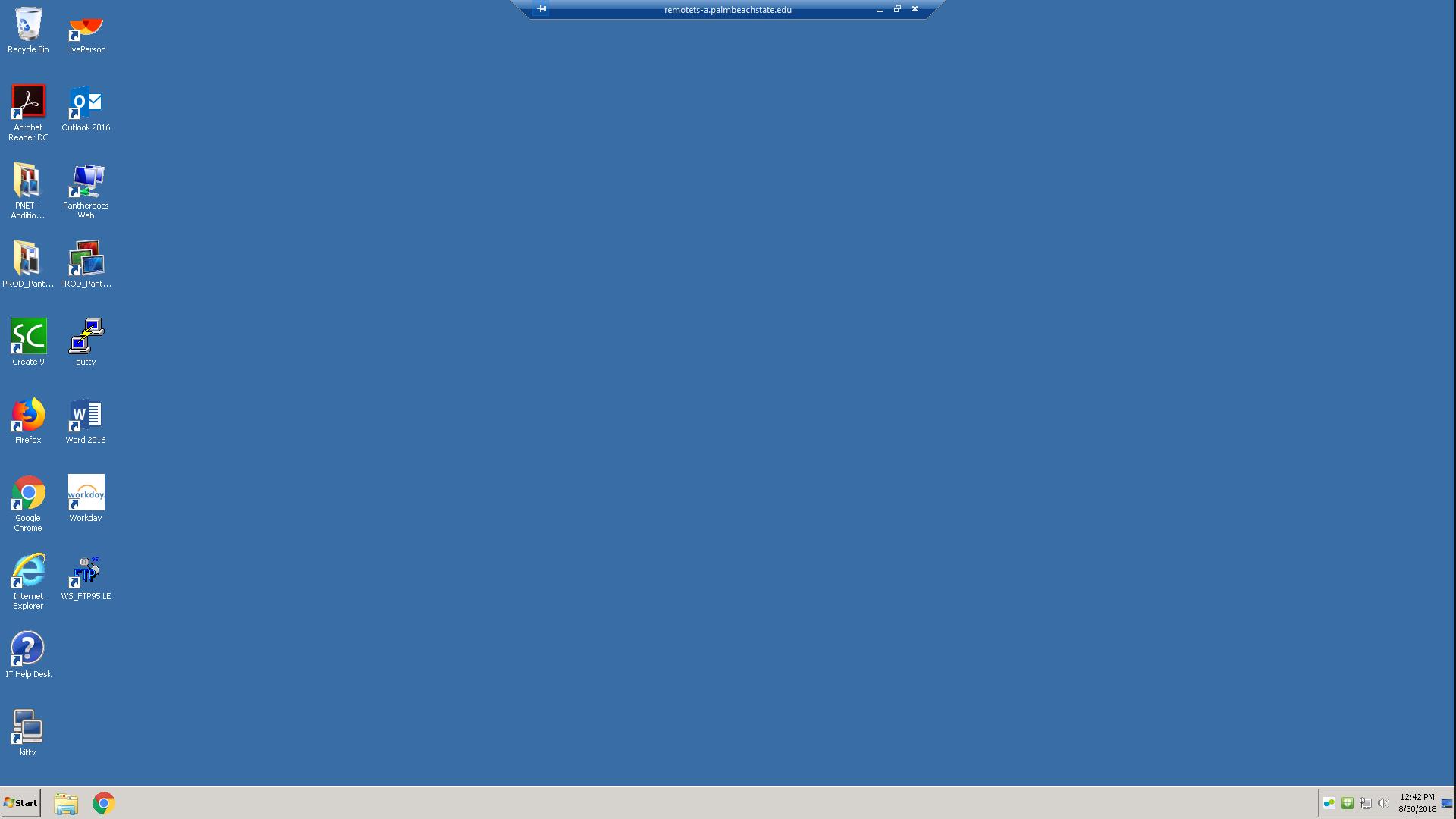 Remote Desktop Screen