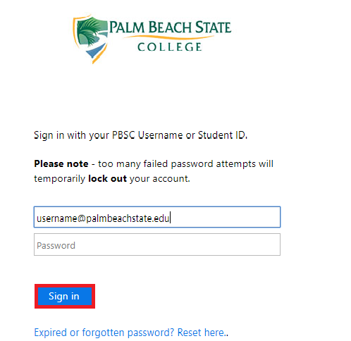 Enter your password and then sign in