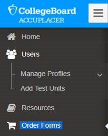 Accuplacer screen image